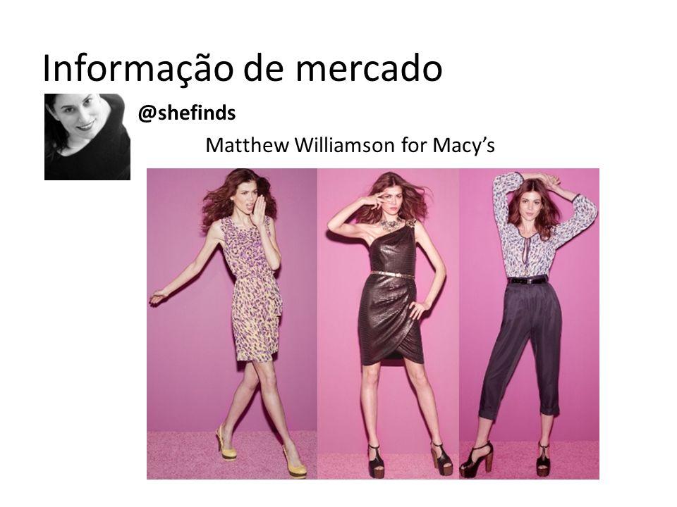 Informação de mercado @shefinds Matthew Williamson for Macys