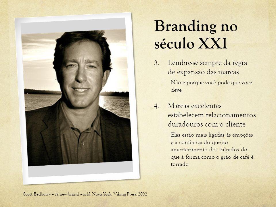 Branding no século XXI 3. Lembre-se sempre da regra de expansão das marcas Não é porque você pode que você deve 4. Marcas excelentes estabelecem relac