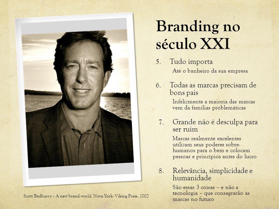 Branding no século XXI 5. Tudo importa Até o banheiro da sua empresa 6. Todas as marcas precisam de bons pais Infelizmente a maioria das marcas vem da