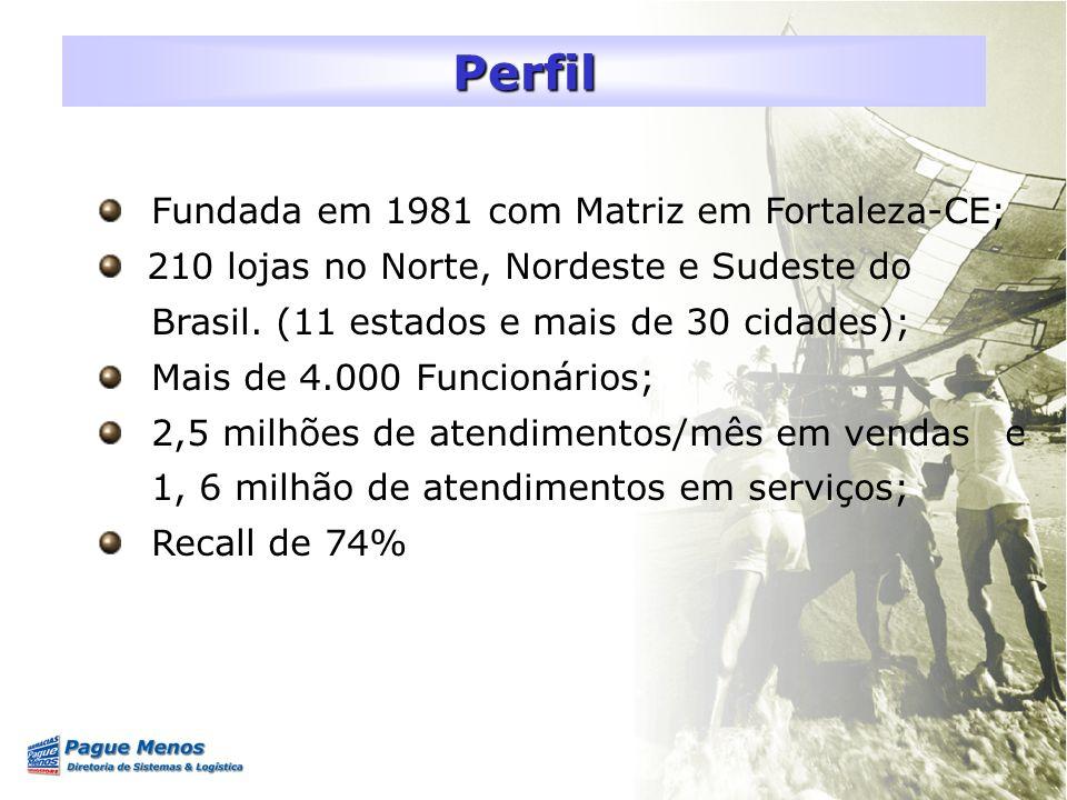 Fundada em 1981 com Matriz em Fortaleza-CE; 210 lojas no Norte, Nordeste e Sudeste do Brasil. (11 estados e mais de 30 cidades); Mais de 4.000 Funcion