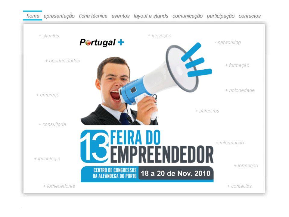 + consultoria + informação + formação + fornecedores + emprego + formação + networking + contactos + tecnologia + notoriedade + parceiros + inovação+ clientes + oportunidades