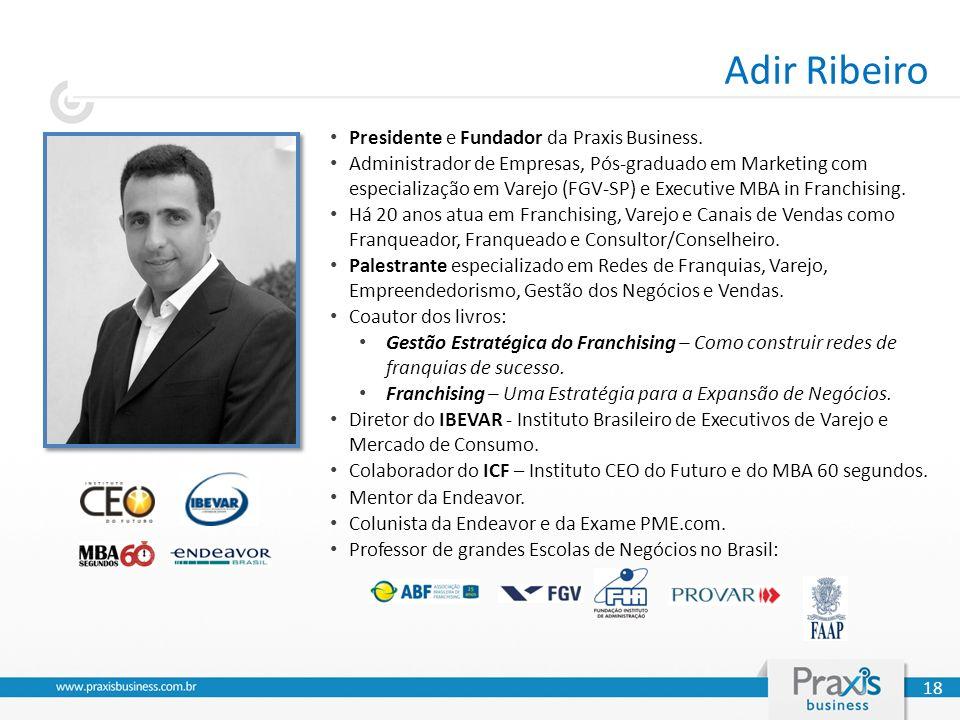 Presidente e Fundador da Praxis Business. Administrador de Empresas, Pós-graduado em Marketing com especialização em Varejo (FGV-SP) e Executive MBA i