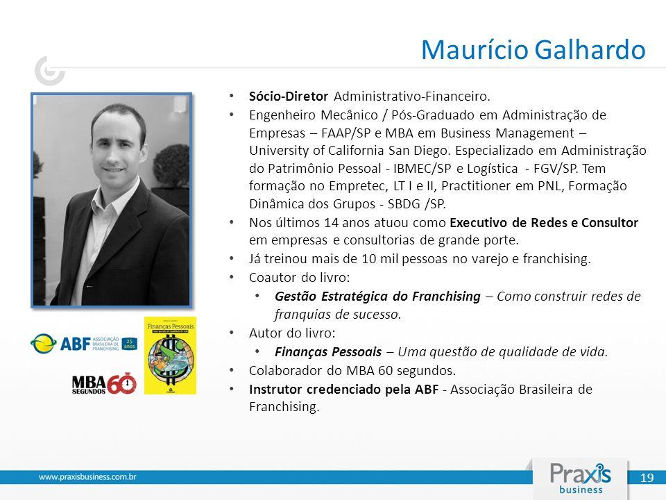 Sócio-Diretor Administrativo-Financeiro. Engenheiro Mecânico / Pós-Graduado em Administração de Empresas – FAAP/SP e MBA em Business Management – Univ
