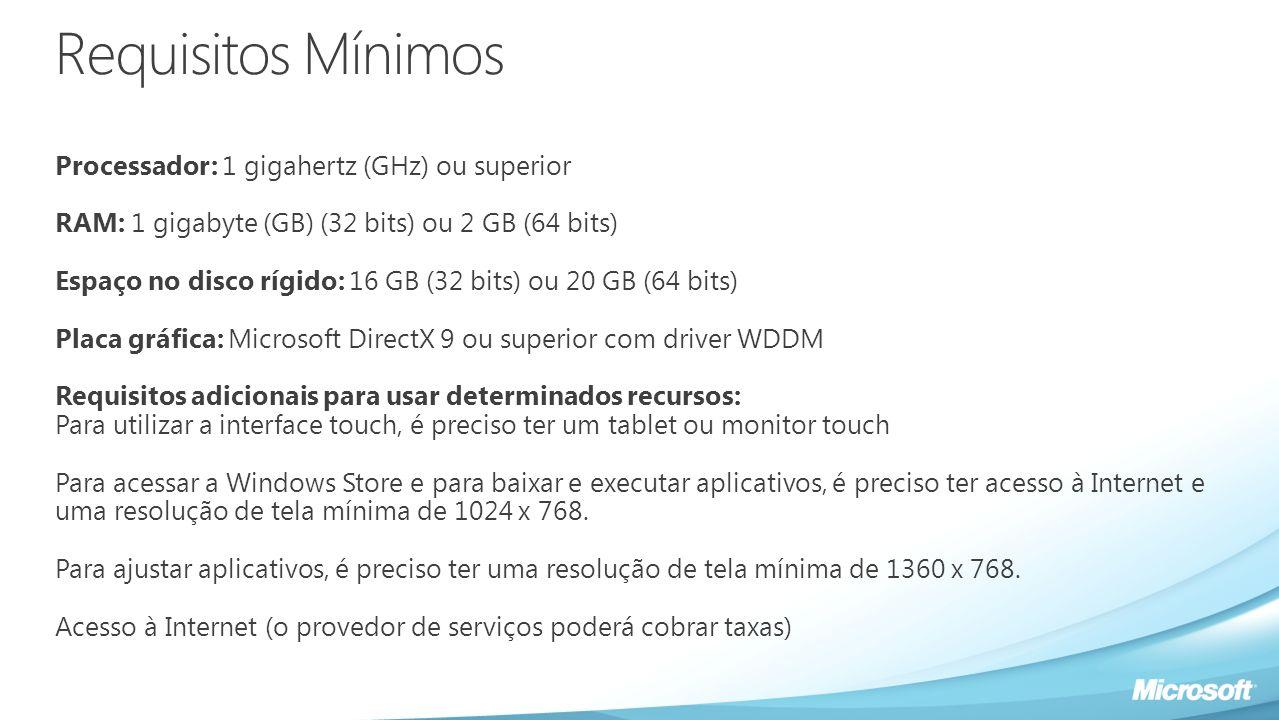 Informações Importantes Compre um computador com Windows 7 e garanta o Windows 8 Pro por apenas R$29 www.windowsupgradeoffer.com 2 de junho de 2012 e 31 de janeiro de 2013.