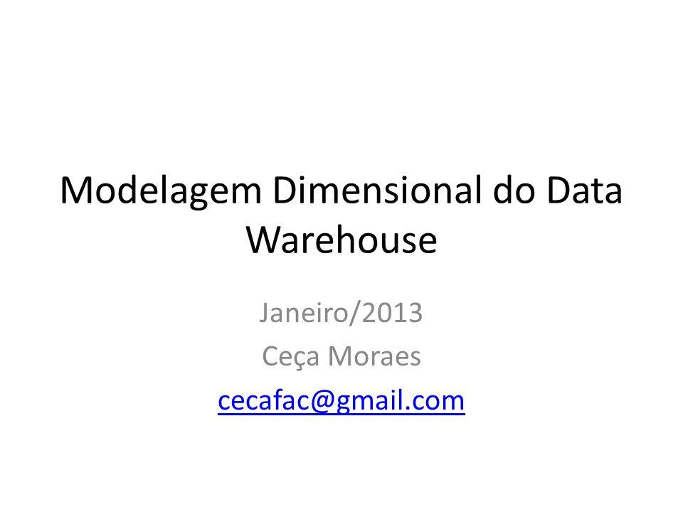 Modelagem Dimensional do Data Warehouse Janeiro/2013 Ceça Moraes cecafac@gmail.com