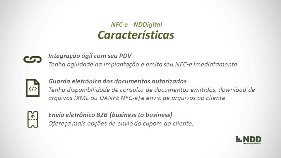 Integração ágil com seu PDV Tenha agilidade na implantação e emita seu NFC-e imediatamente.