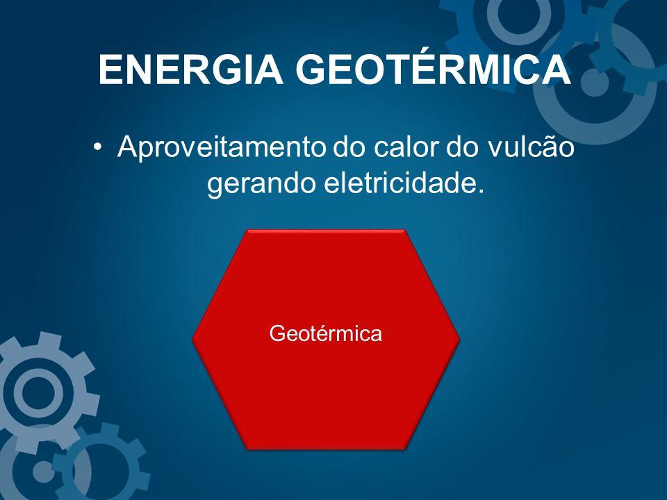 Aproveitamento do calor do vulcão gerando eletricidade. Geotérmica ENERGIA GEOTÉRMICA
