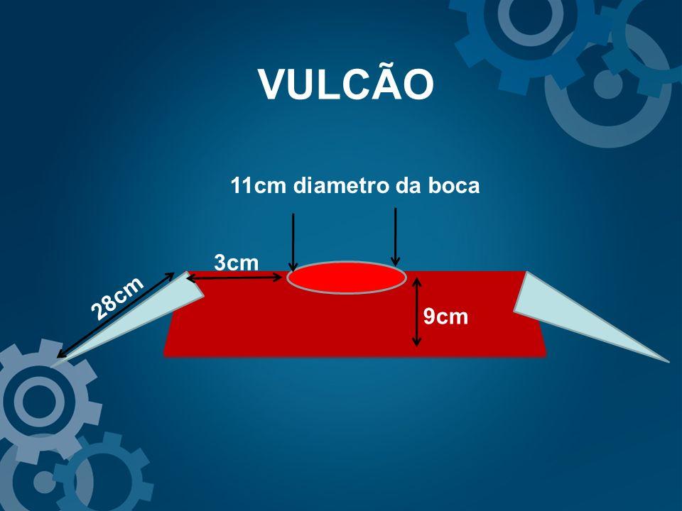 VULCÃO 9cm 11cm diametro da boca 28cm 3cm