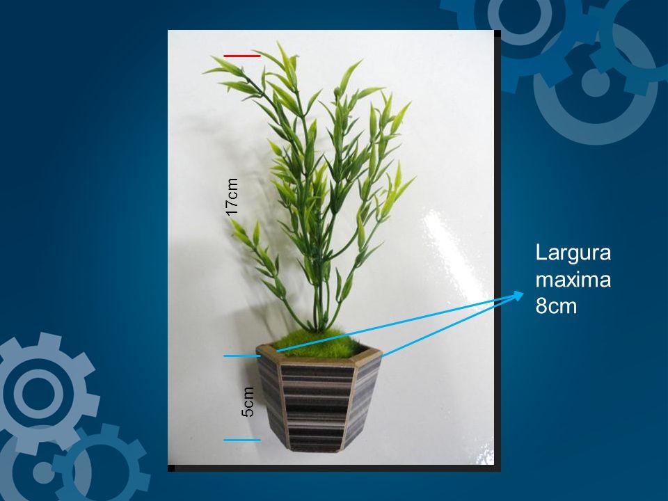 5cm 17cm Largura maxima 8cm