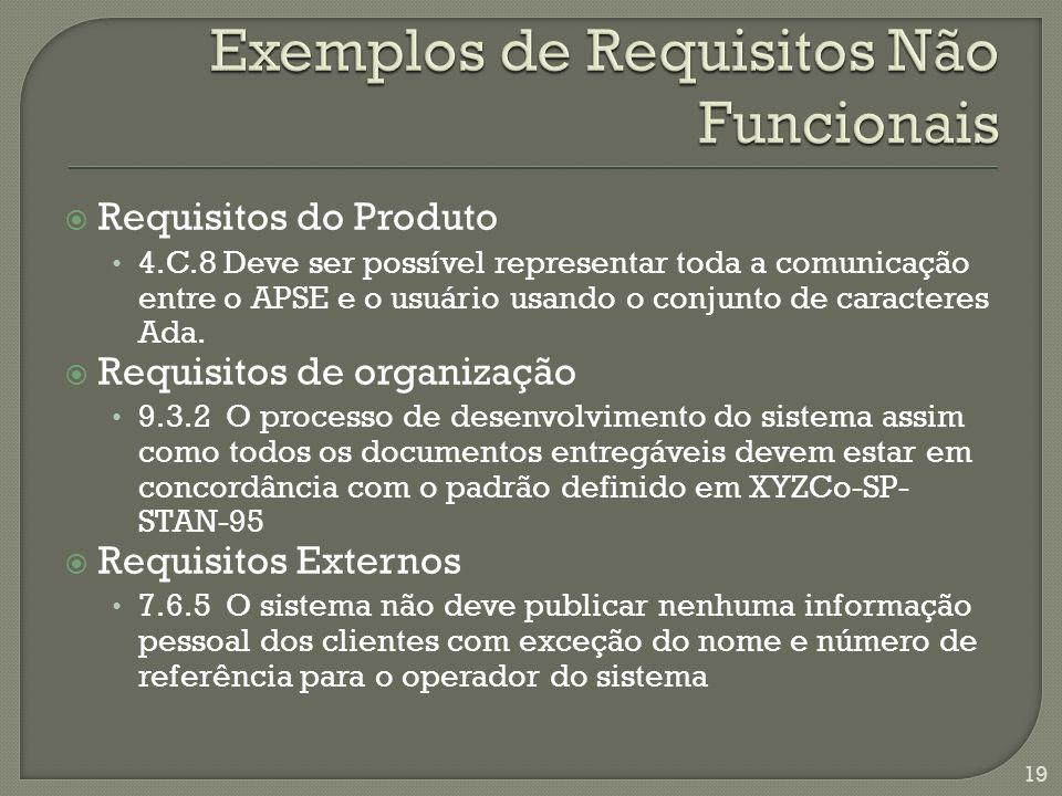 Requisitos do Produto 4.C.8 Deve ser possível representar toda a comunicação entre o APSE e o usuário usando o conjunto de caracteres Ada.