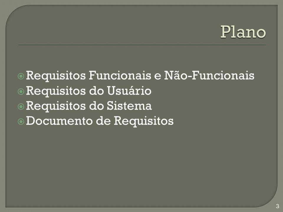 Requisitos Funcionais e Não-Funcionais Requisitos do Usuário Requisitos do Sistema Documento de Requisitos 3