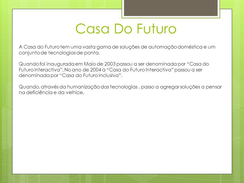 Casa Do Futuro A Casa do Futuro tem uma vasta gama de soluções de automação doméstica e um conjunto de tecnologias de ponta.