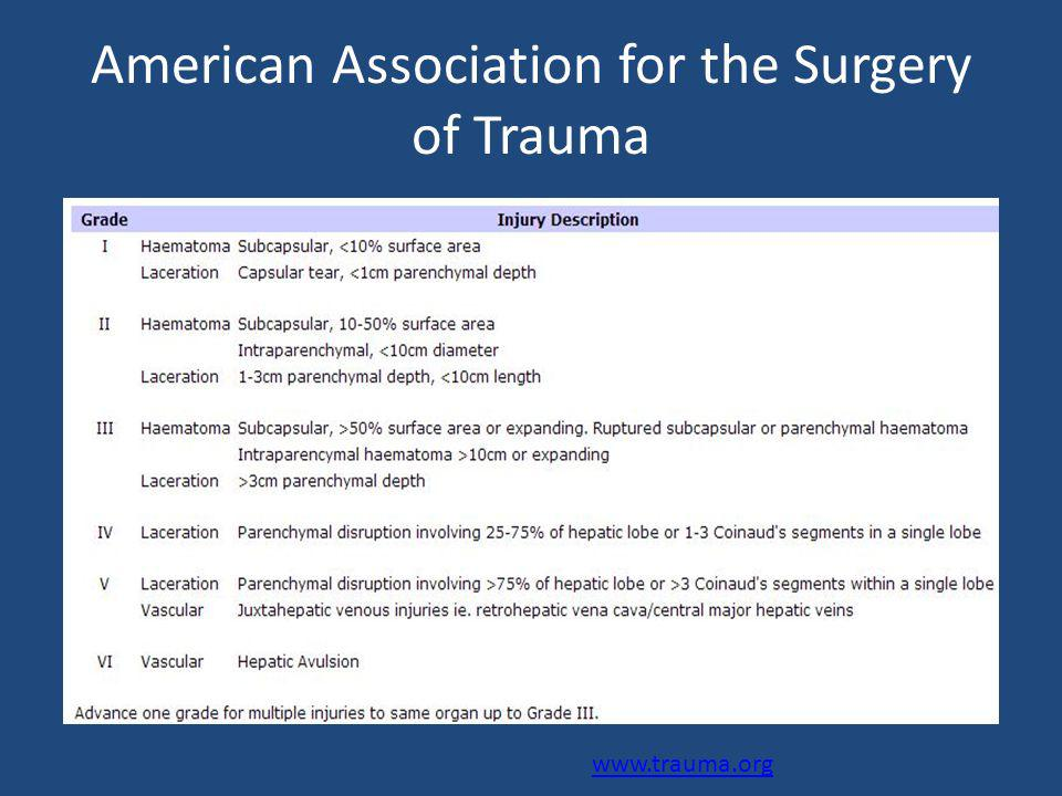 American Association for the Surgery of Trauma www.trauma.org