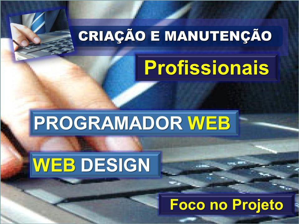 CRIAÇÃO E MANUTENÇÃO Profissionais PROGRAMADOR WEB WEB DESIGN Foco no Projeto