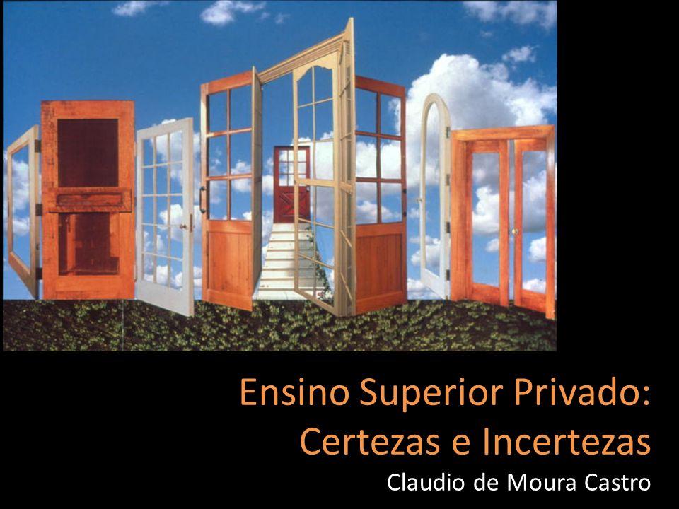 Ensino Superior Privado: Certezas e Incertezas Claudio de Moura Castro