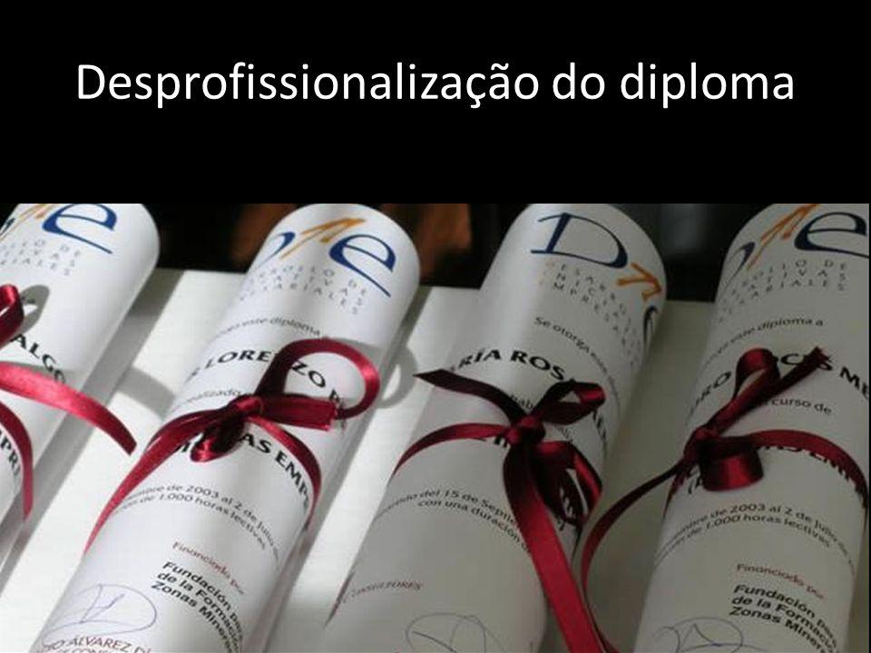 Desprofissionalização do diploma