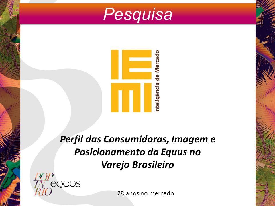 Perfil das Consumidoras, Imagem e Posicionamento da Equus no Varejo Brasileiro Pesquisa 28 anos no mercado
