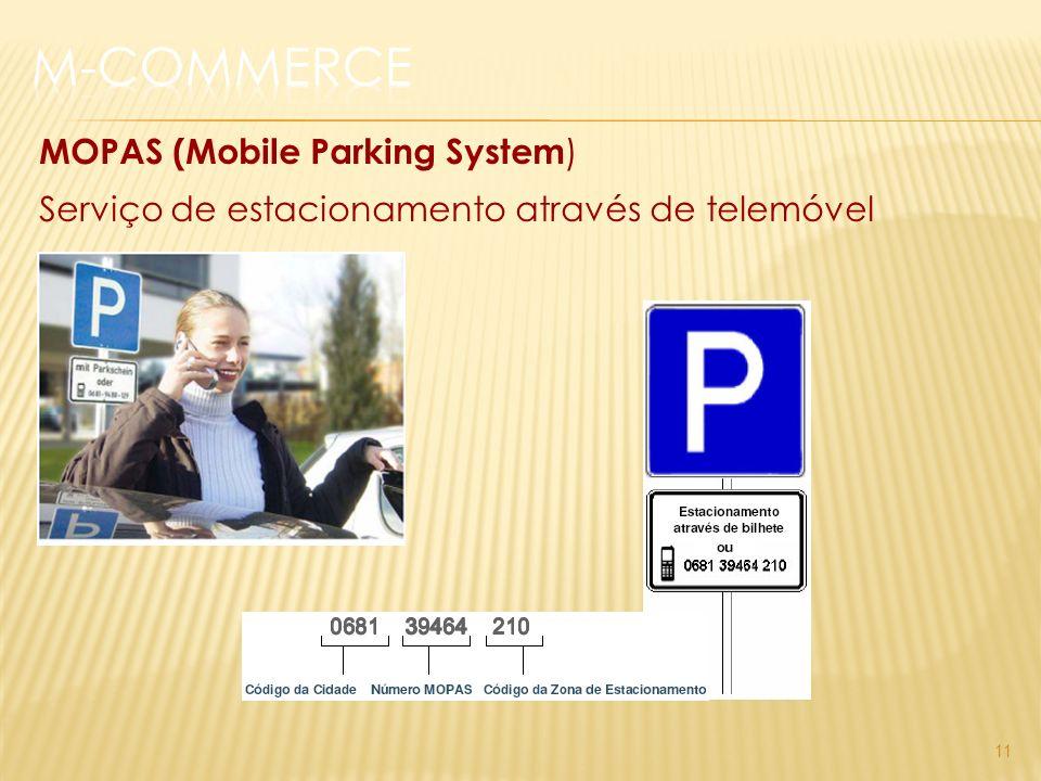 11 MOPAS (Mobile Parking System ) Serviço de estacionamento através de telemóvel