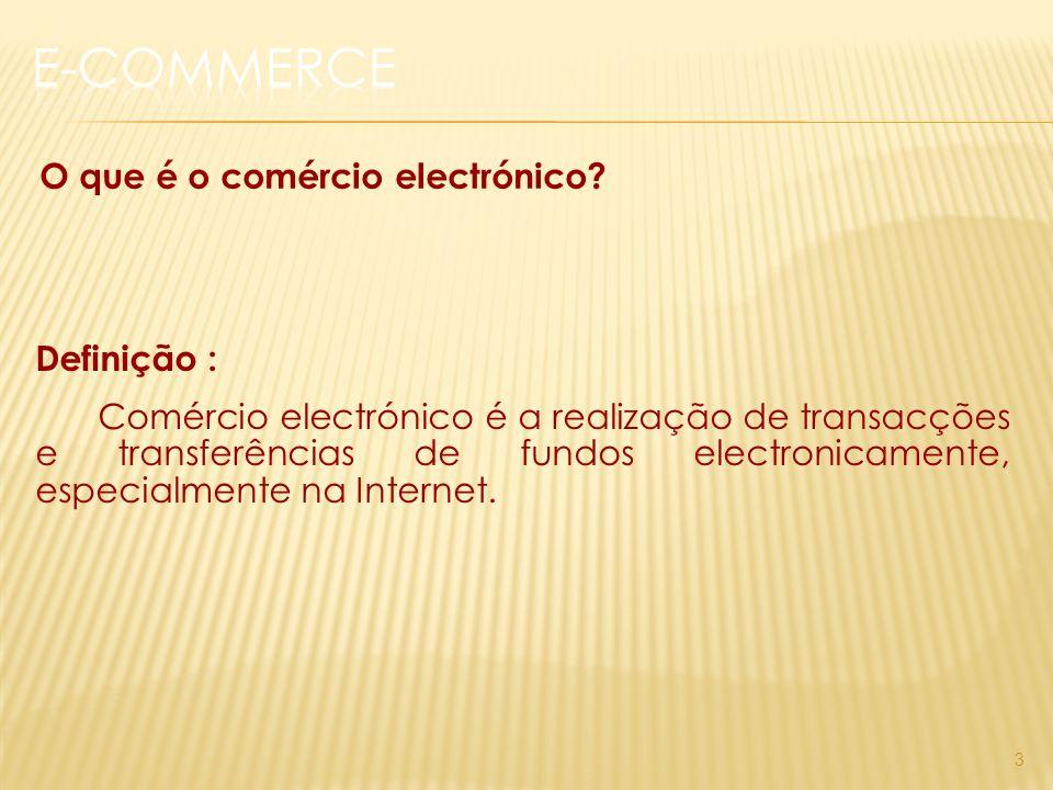 3 O que é o comércio electrónico.