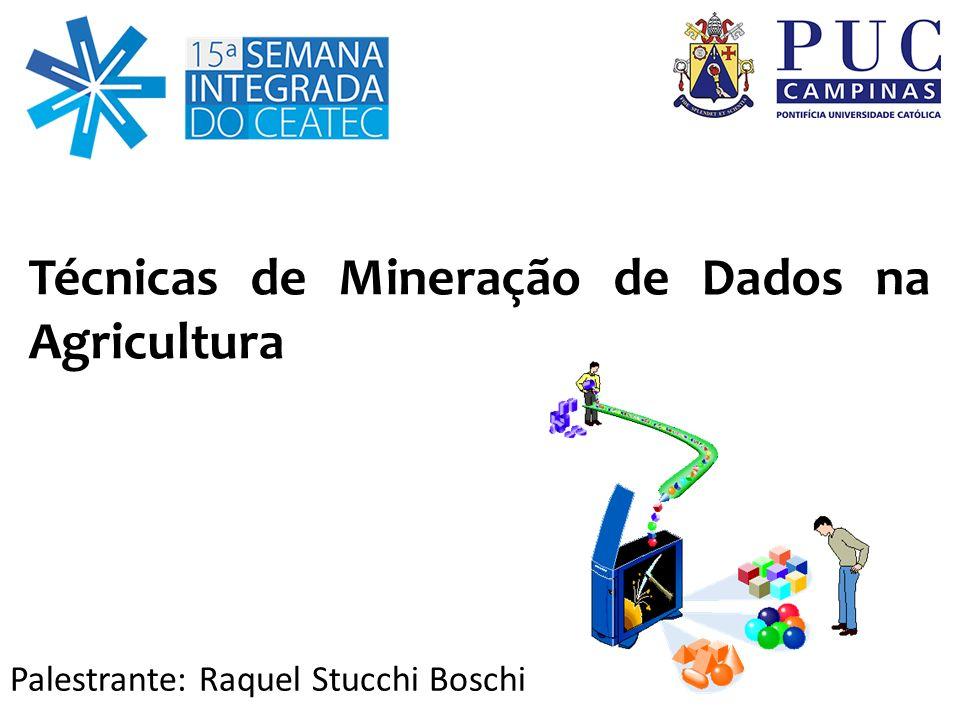 Técnicas de Mineração de Dados na Agricultura Palestrante: Raquel Stucchi Boschi