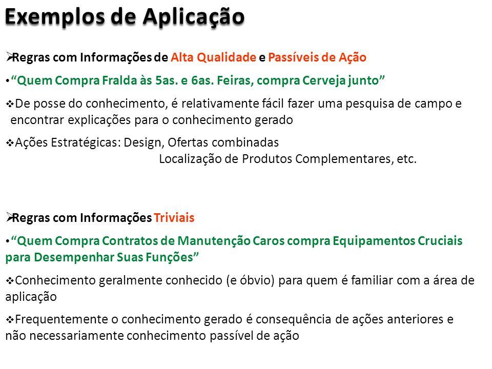 Regras com Informações de Alta Qualidade e Passíveis de Ação Quem Compra Fralda às 5as.