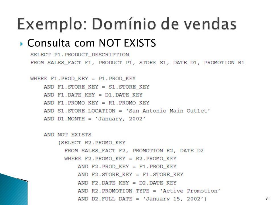 Consulta com NOT EXISTS DW e OLAP - Prof. Ricardo Ciferri31