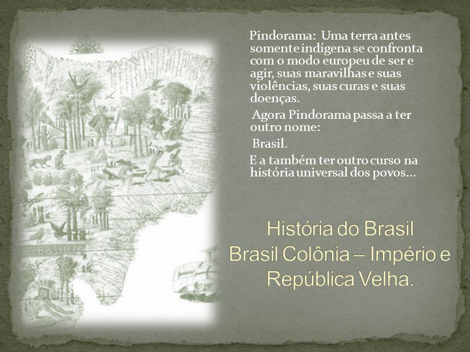 Pindorama: Uma terra antes somente indígena se confronta com o modo europeu de ser e agir, suas maravilhas e suas violências, suas curas e suas doença