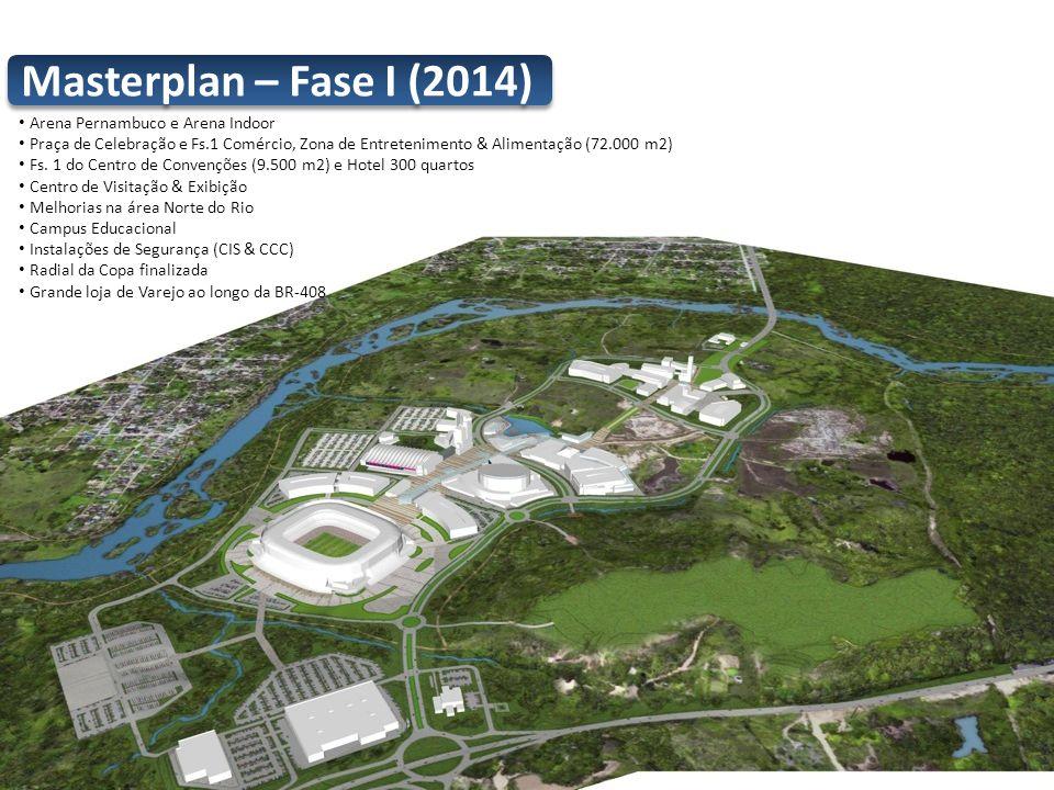 Arena Pernambuco e Arena Indoor Praça de Celebração e Fs.1 Comércio, Zona de Entretenimento & Alimentação (72.000 m2) Fs. 1 do Centro de Convenções (9