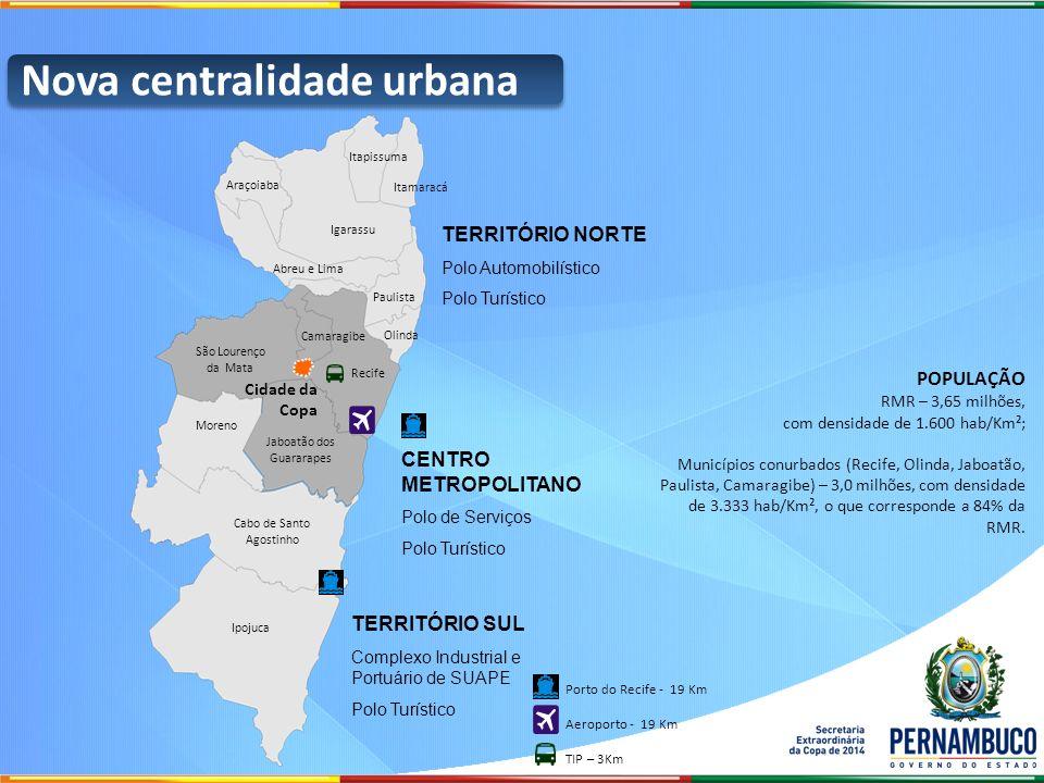 Itamaracá POPULAÇÃO RMR – 3,65 milhões, com densidade de 1.600 hab/Km²; Municípios conurbados (Recife, Olinda, Jaboatão, Paulista, Camaragibe) – 3,0 m