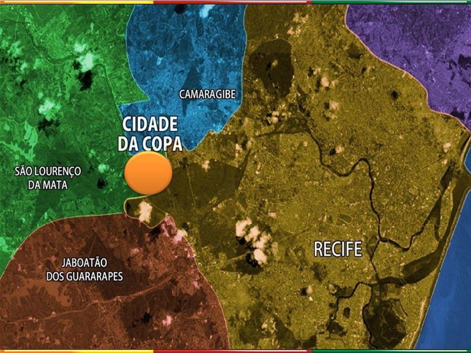 19 km 22 km 21 km 3 km 2 km AEROPORTO GILBERTO FREYRE POLO HOTELEIRO TIP PORTO DO RECIFE TI COSME E DAMIÃO ESTAÇÃO DO METRÔ COSME E DAMIÃO 19 km 22 km 21 km 3 km 2 km