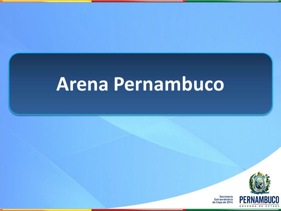 Tipo de concessão: Parceria Público-Privada Investimento total: R$ 532 milhões Área: 42 hectares Público total: 46.105 Estacionamento: 4.720 vagas Área disponível – Imprensa: 5.838 m 2 Prazo de conclusão: dezembro de 2012 Arena Pernambuco