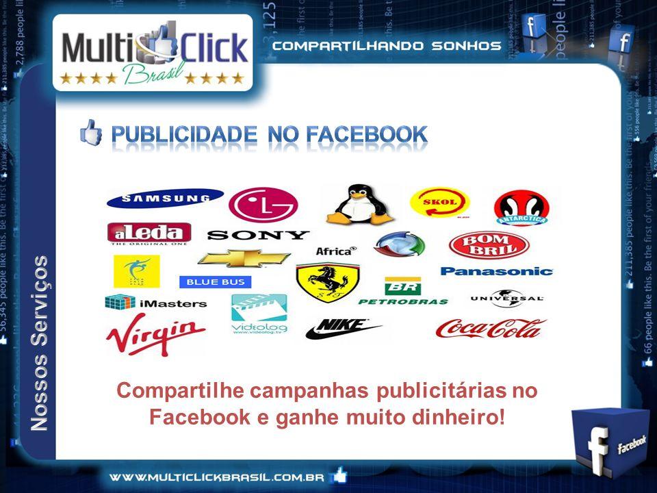 Compartilhe campanhas publicitárias no Facebook e ganhe muito dinheiro!