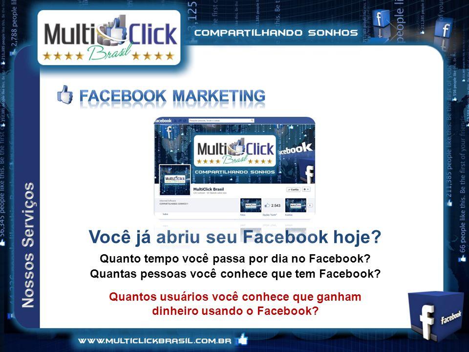 Você já abriu seu Facebook hoje.Quanto tempo você passa por dia no Facebook.
