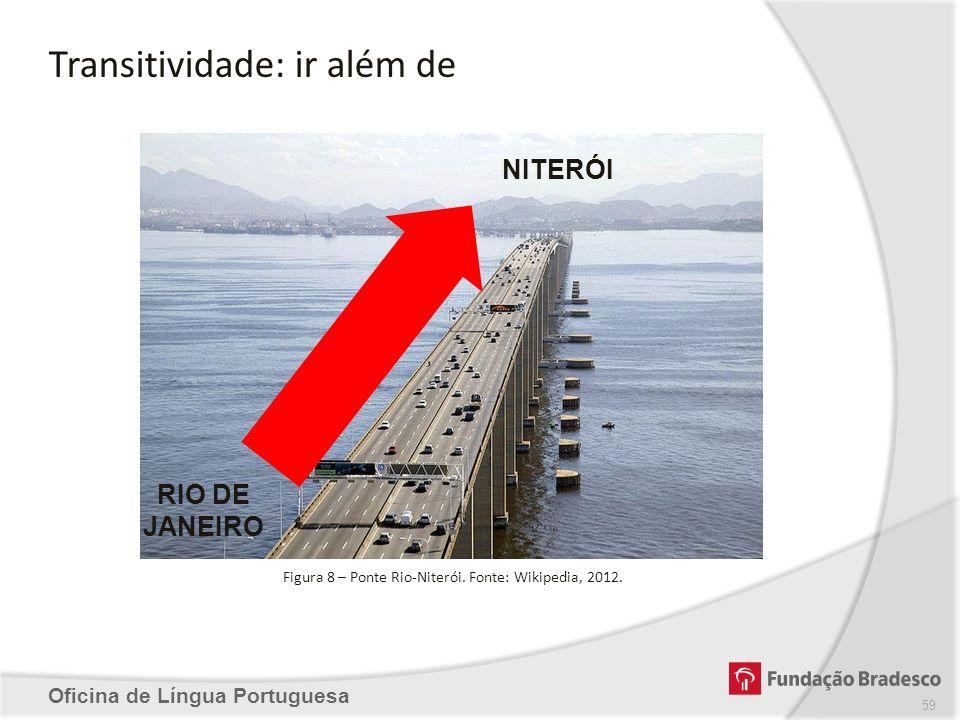 Transitividade: ir além de Oficina de Língua Portuguesa Figura 8 – Ponte Rio-Niterói. Fonte: Wikipedia, 2012. RIO DE JANEIRO NITERÓI 59