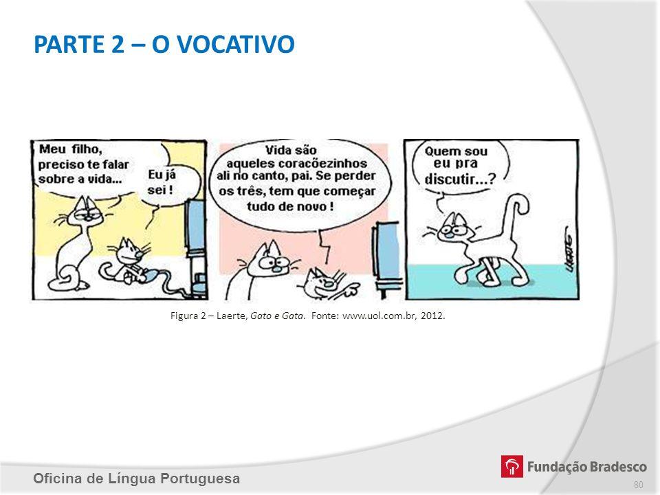 PARTE 2 – O VOCATIVO Oficina de Língua Portuguesa Figura 2 – Laerte, Gato e Gata. Fonte: www.uol.com.br, 2012. 80