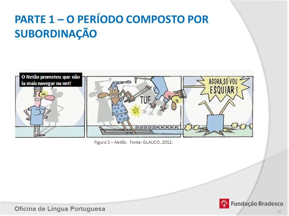 PARTE 1 – O PERÍODO COMPOSTO POR SUBORDINAÇÃO Oficina de Língua Portuguesa Figura 1 – Netão. Fonte: GLAUCO, 2012. 88