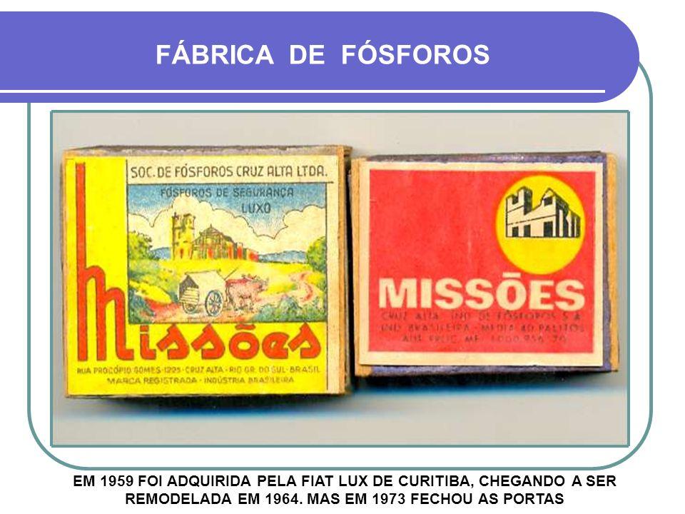 EM 1959 FOI ADQUIRIDA PELA FIAT LUX DE CURITIBA, CHEGANDO A SER REMODELADA EM 1964.