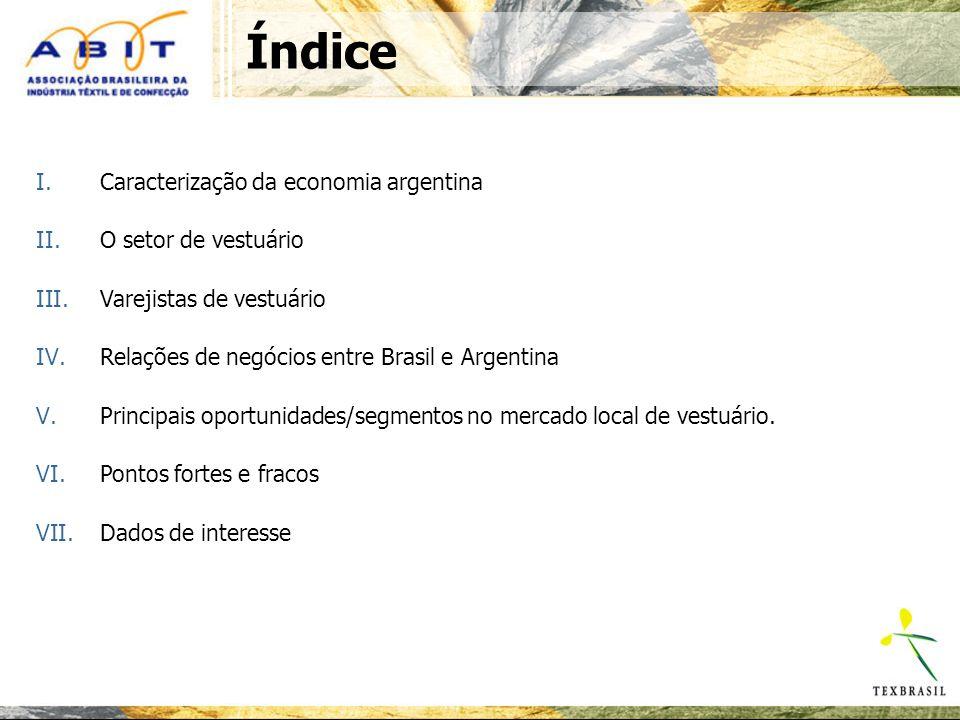 Argentina: aspectos da cultura e do estilo de vida do país Setor economicamente influente (classe média) % de menções espontâneas.