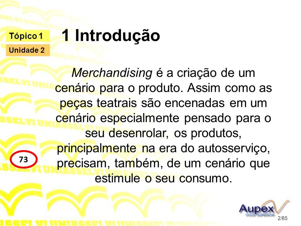 1 Introdução Merchandising é a criação de um cenário para o produto. Assim como as peças teatrais são encenadas em um cenário especialmente pensado pa