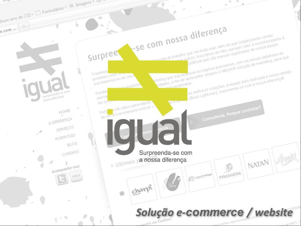 Solução e- commerce / website
