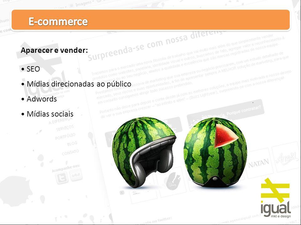 Aparecer e vender: SEO Mídias direcionadas ao público Adwords Mídias sociais