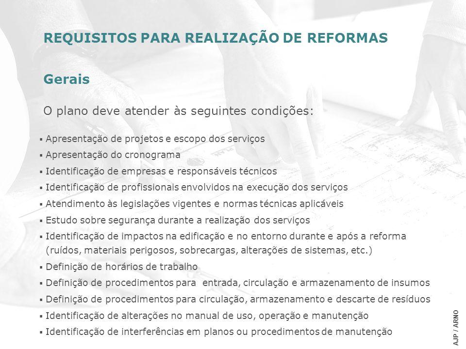 Apresentação de projetos e escopo dos serviços Apresentação do cronograma Identificação de empresas e responsáveis técnicos Identificação de profissio