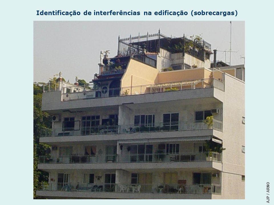 AJP / ARNO Identificação de interferências na edificação (sobrecargas)
