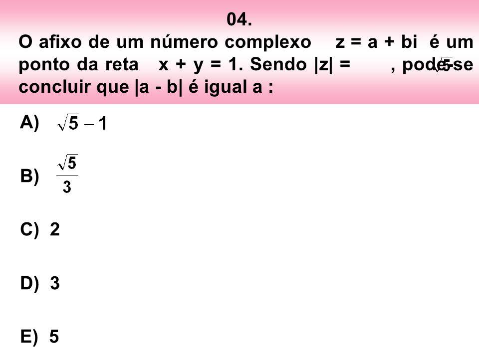 05.Os números 1 e i são raízes de um polinômio P(x), com coeficientes reais e grau 3.