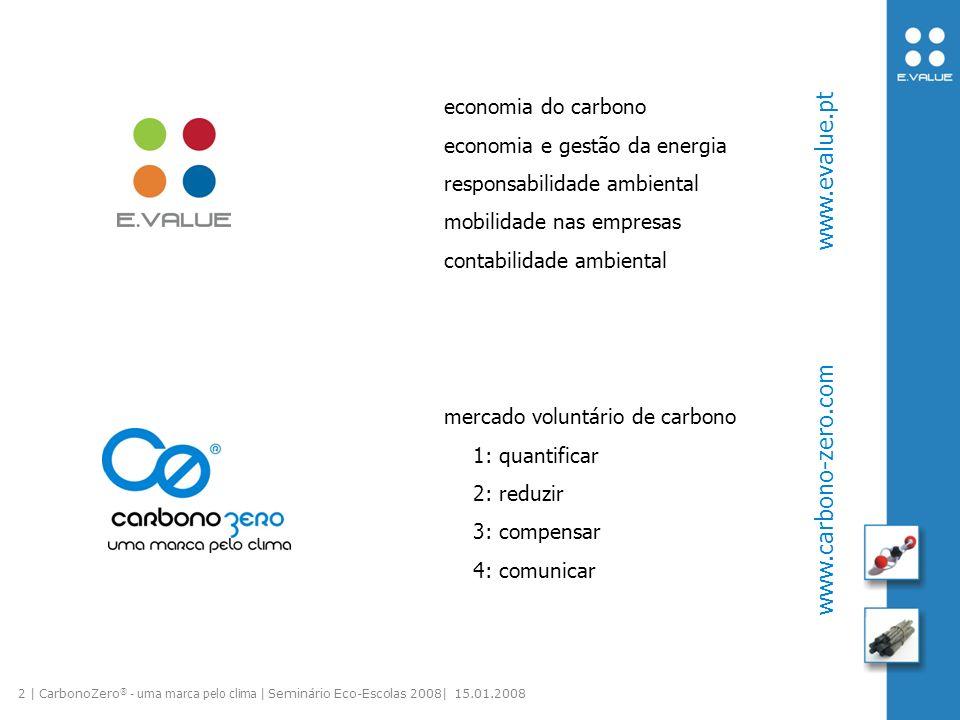 3 | CarbonoZero ® - uma marca pelo clima | Seminário Eco-Escolas 2008| 15.01.2008 carbono, carbono em todo o lado.