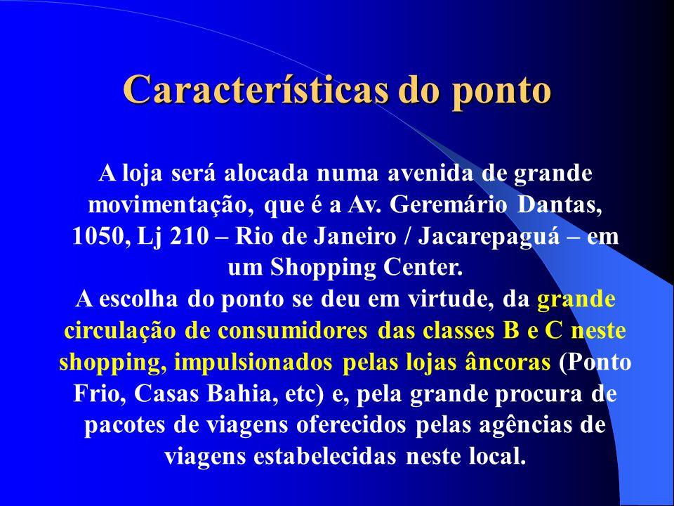 Características do ponto A loja será alocada numa avenida de grande movimentação, que é a Av. Geremário Dantas, 1050, Lj 210 – Rio de Janeiro / Jacare