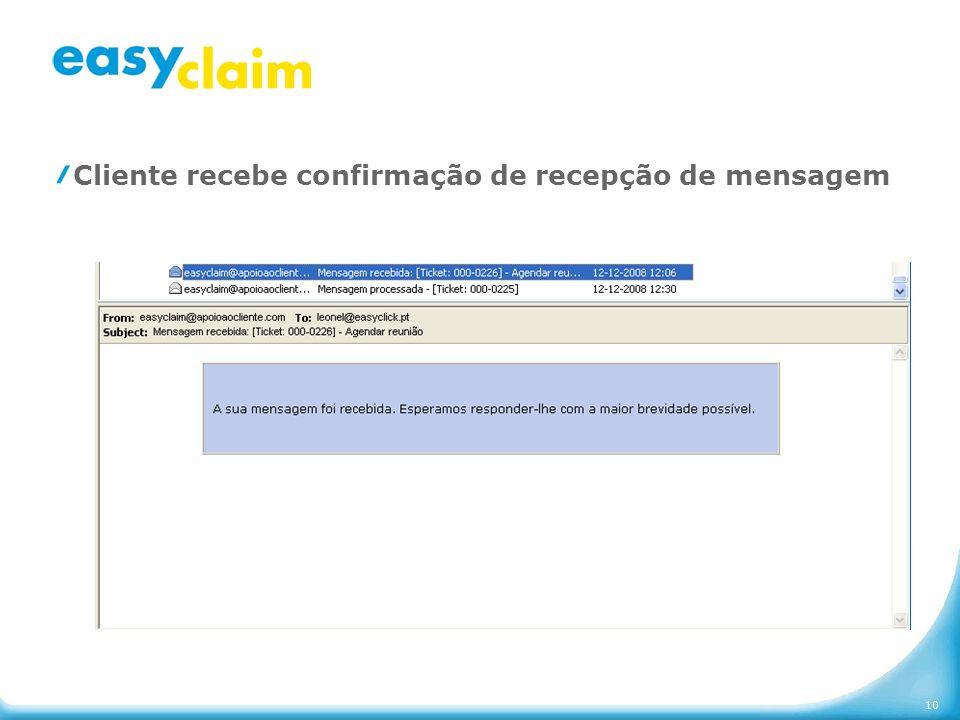 10 Cliente recebe confirmação de recepção de mensagem