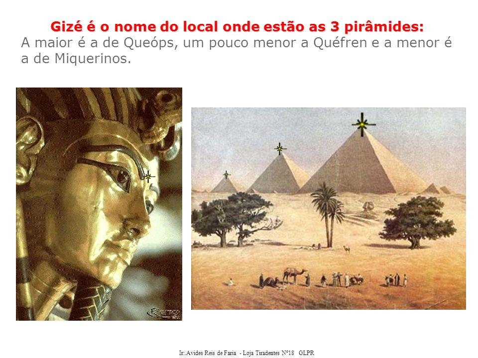 Ir:.Avides Reis de Faria - Loja Tiradentes Nº18 GLPR misteriosas energias Existiriam misteriosas energias geradas, e simultaneamente atraídas, pelas pirâmides ou até mesmo pelas suas simples formas geométricas.