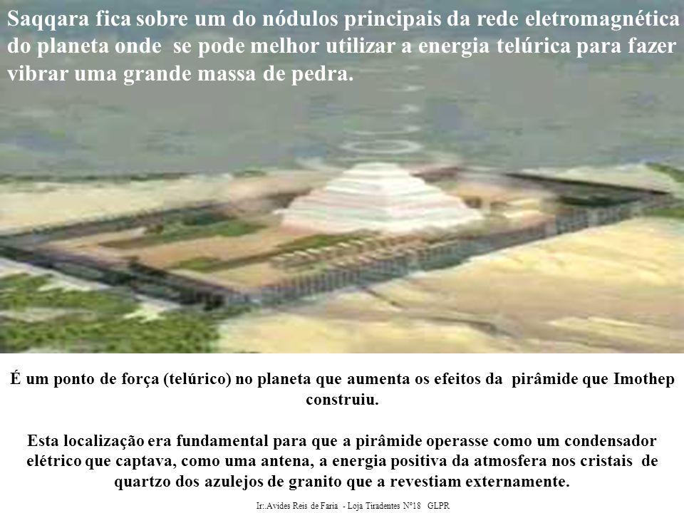 Ir:.Avides Reis de Faria - Loja Tiradentes Nº18 GLPR A pirâmide foi alinhada com os pontos cardeais.