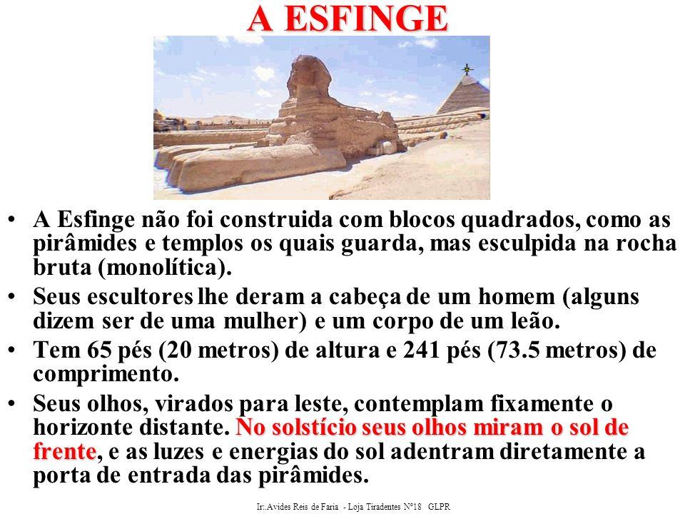 Ir:.Avides Reis de Faria - Loja Tiradentes Nº18 GLPR O Enigma da Esfinge O Enigma da Esfinge: Esfinge A Esfinge é sem dúvida, uma relíquia de outro tempo.